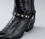 Black and silver boot bracelet