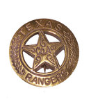 Small Texas rangers badge