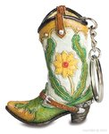 cowboy boot key ring