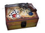 Poker and gun storage box