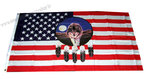 USA feather wolf flag