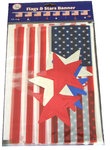 Flags and stars banner 3m70