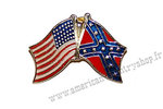 Rebel Flag & USA Flag Tie Tack