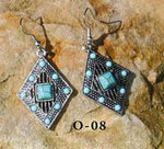 Boucle d'oreilles cowgirl turquoise