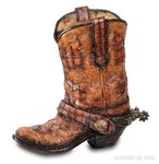 Pencil pot-cowboy boot F