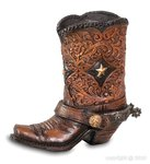 Pencil pot-cowboy boot G