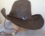 Curled Straw Hat Chocolate