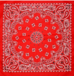 Bandana rouge- made in USA