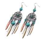 dreamcatcher earrings tricolor