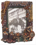 Boots and wheel picture frame