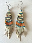 bird beige indian earings