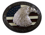 Eagle and American flag buckle