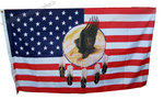 DRAPEAU USA DREAMCATCHER AIGLE