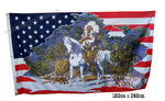 USA indian chief large flag