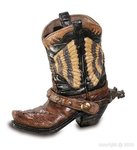 Pencil pot-cowboy boot C