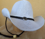 Curled Straw Hat White