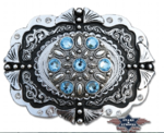 Blue stone buckle