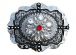 Red stone buckle