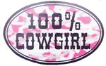 "Magnet voiture "" 100 % COWGIRL"""