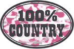 "Magnet Voiture ""100 % COUNTRY"""