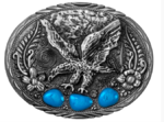 Flying eagle with blue enamel accents