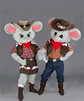 Female country mouse mascot