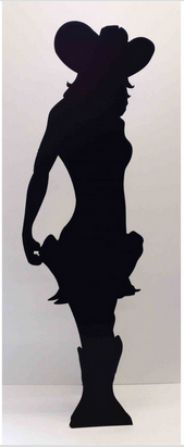 Giant silhouette cowgirl cardboard