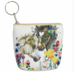 horse and flowers coin purse