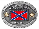 Tennessee Rebel Flag Belt Buckle